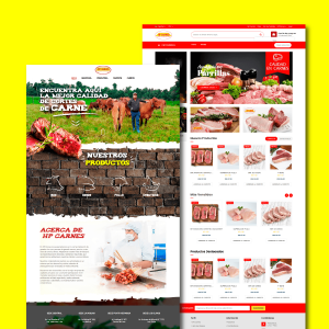 HP Carnes Diseño de web